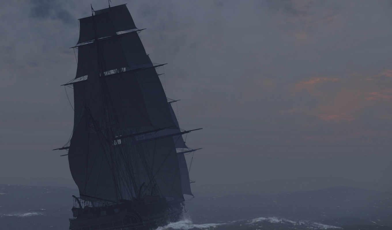 буря, море, волны, дождь, корабль, pack, корабли,