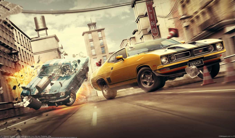 графика, машины,гонки,авария,