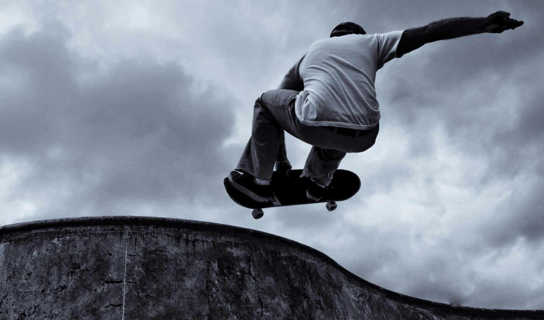 адреналин, скейтбордист, спорт,