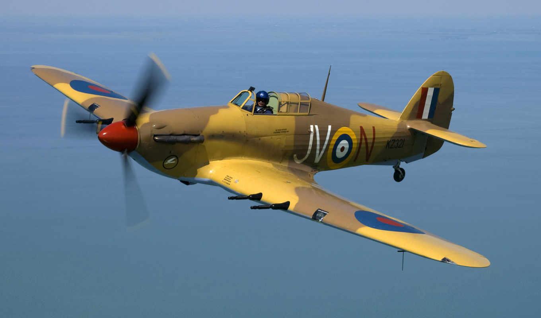 полет, hawker, самолёт, впервые, истребитель, самолеты, ураган, море,