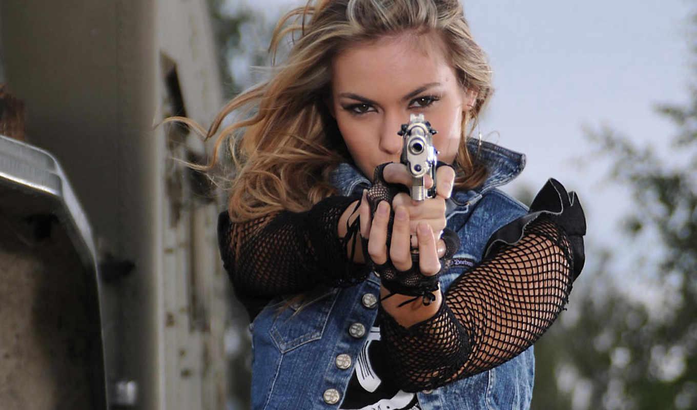 devushka, пістолет, devushki, револьверы, целится, пистолеты, газовые, пистолета,