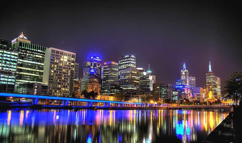 австралия, melbourne, город, качество, free,