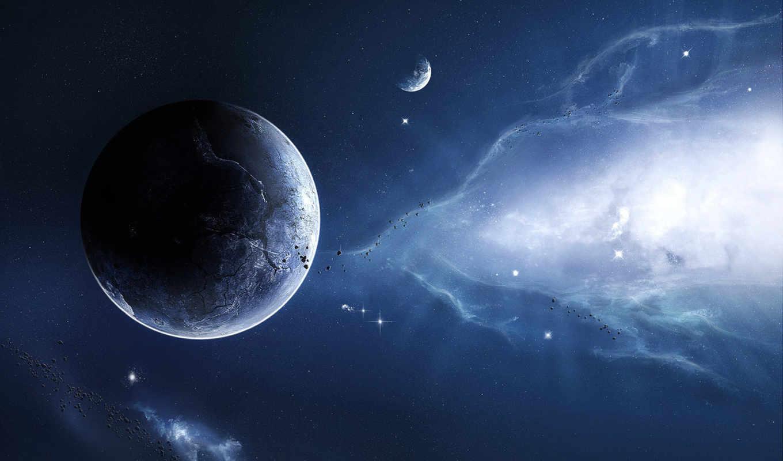 cosmos, планеты, фантастика, небо, звезды, метеориты, фотообои,