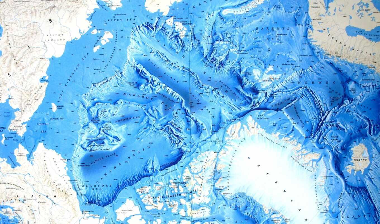 ocean, arctic, northern, map