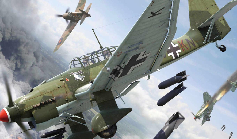 junkers, юнкерс, sturzkampfflugz, stuka, самолёт, diving, лапотник, лаптёжник, бомбардировщик,
