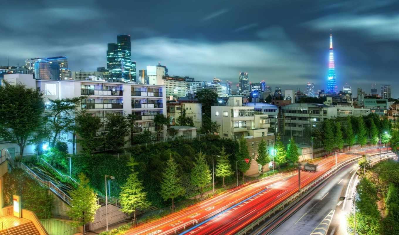 tokyo, ночь, город, города,