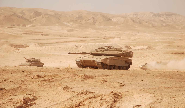 оружие, танк, пустыня, merkava