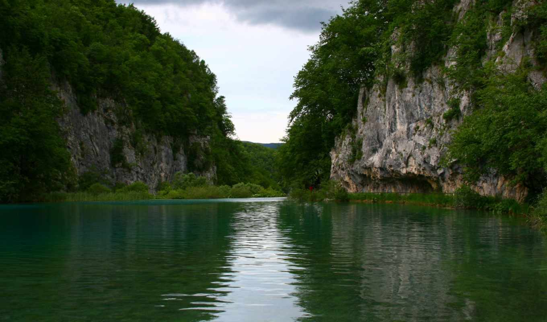 ozero, priroda, пейзаж, деревя, небо,