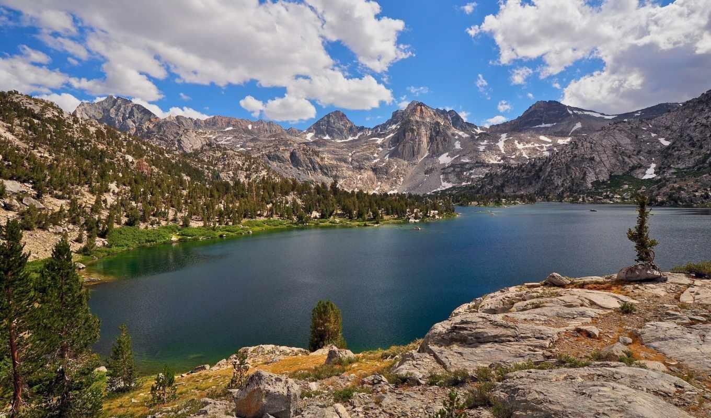 lakes, каньон, rae, kings, national, park, california, peak, painted, озеро, lady,