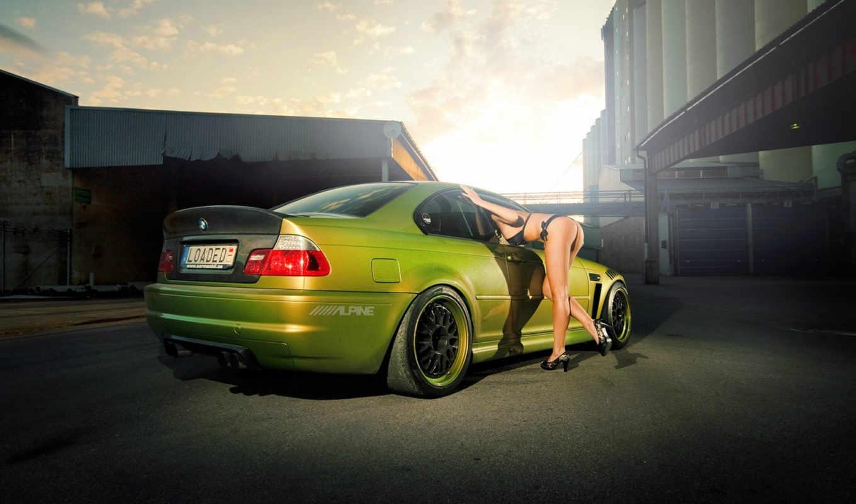 bmw, девушка, бмв, тюнинг, autowalls, coupe, car,