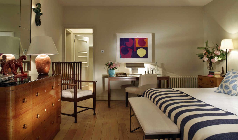 интерьер, интерьере, интерьеры, мебель, кровать, dark, паркет,
