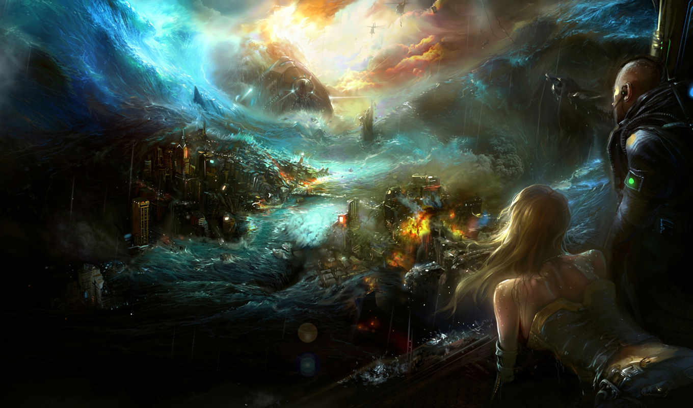 apocalyptic, fantasy, wallpapers, masks, art, sci,