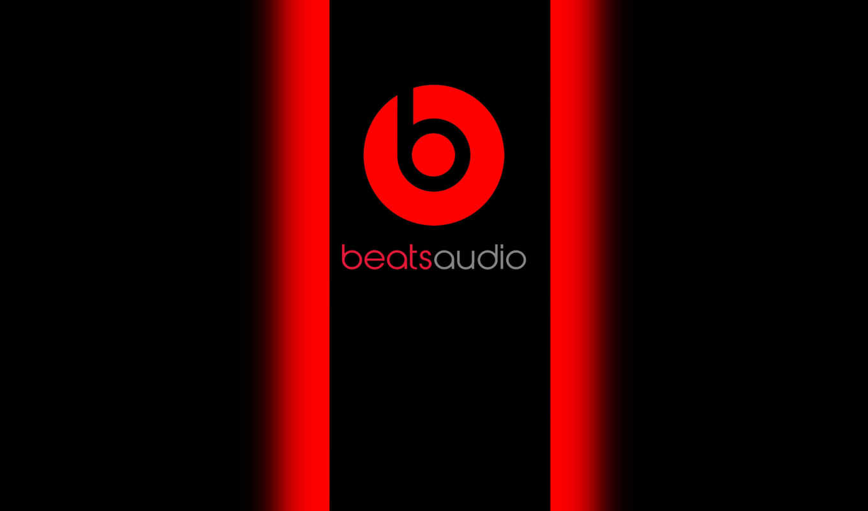 beats, audio, dre, dr, логотип, музыка, baetsaudio, red, black,