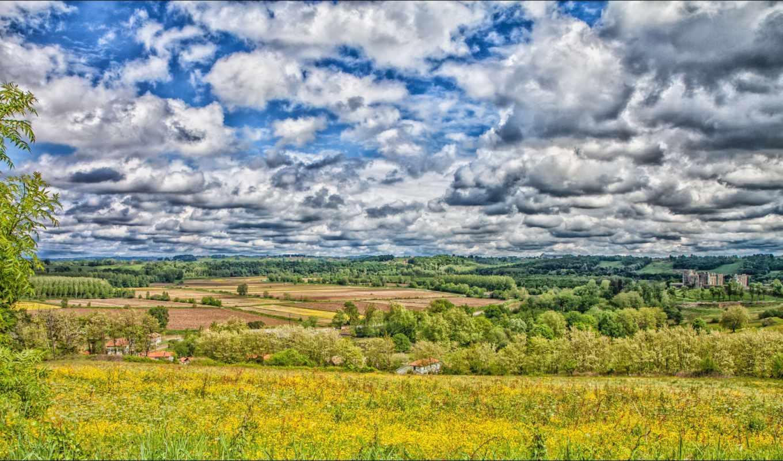 природа, красивые, природы, пейзажи -, красивая, oblaka, landscape, margin, небо,