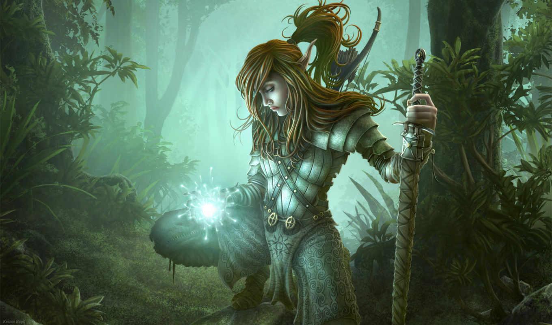fantasy, warrior, image, aliya, чудесный, мир, рисованный, эльф, этот, that, que, background, espero, от, depositfiles, full,