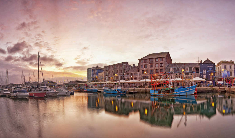фотопанно, море, bay, город, landscape,