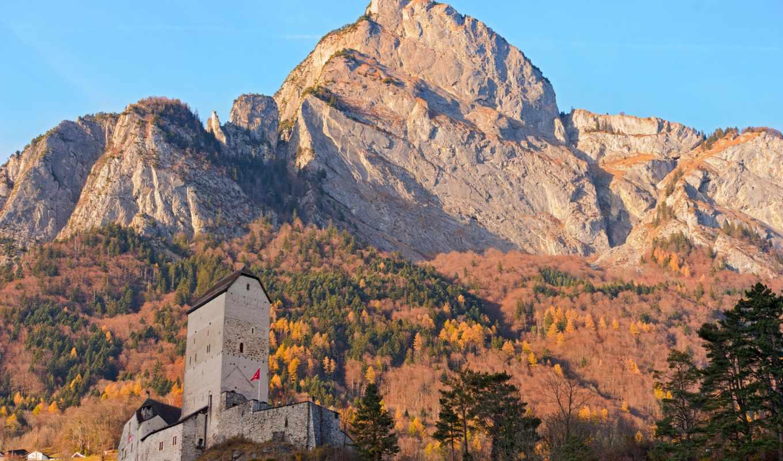 castle, швейцария, sargans,