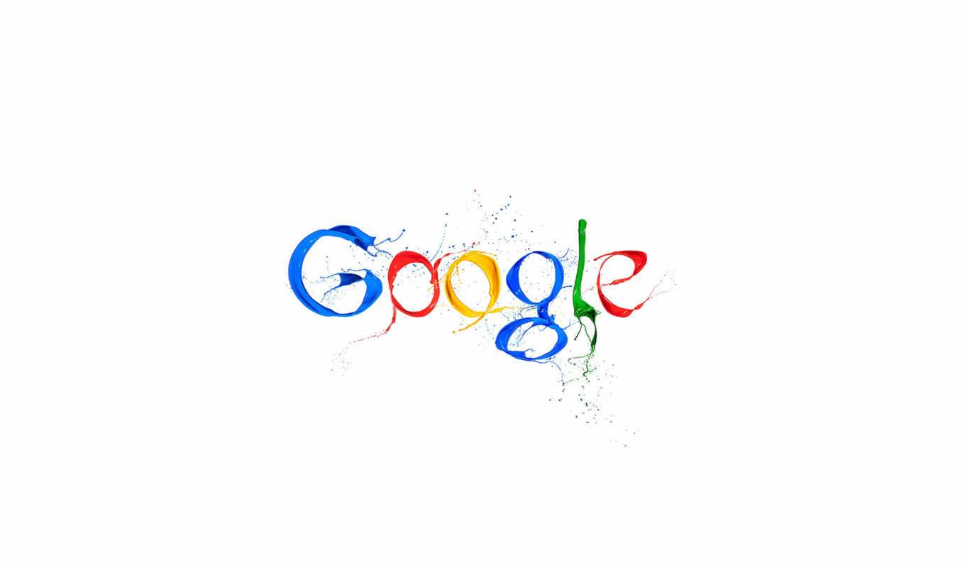 google, брызги, лого, разноцветный