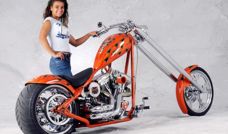 harley, davidson, chopper, custom, motorcycles, сосны, елки,