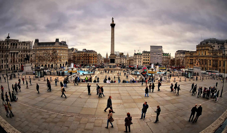 площадь, трафальгарская, центре, лондона, square, trafalgar, london, central, download,