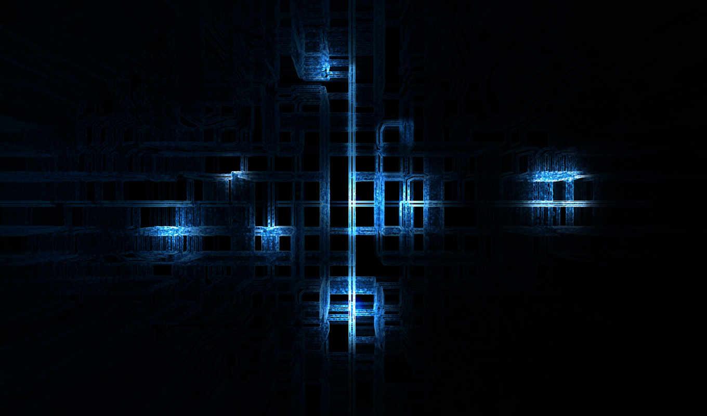 синий, линии, inside, cpu, смотрите, abstract,