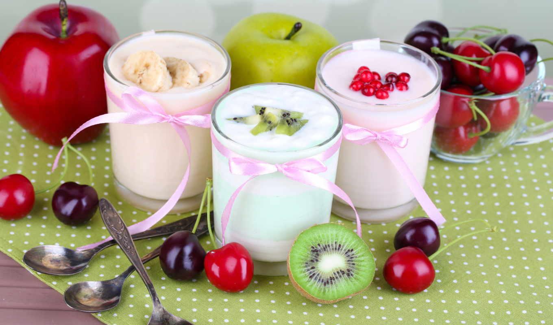 еда, фрукты, мороженое, июня, milk, fruits, плод, ягоды,