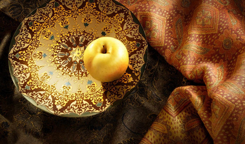 apple, тарелочке,