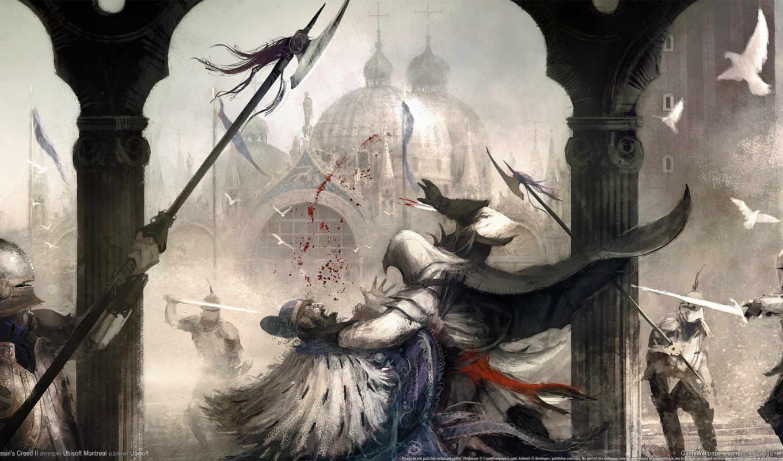 creed, эцио, assassin, art, assassins, да, phan,