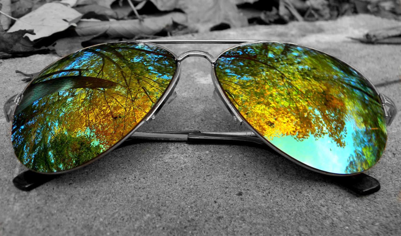 очки, грн, отражение, glass, дек, трава, culos,