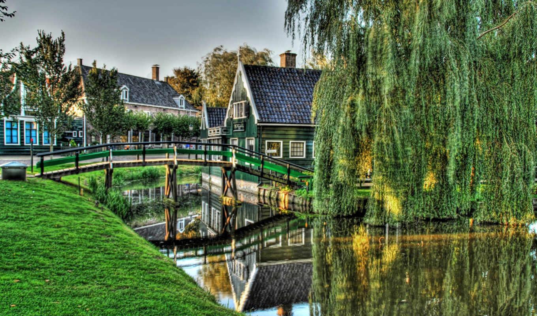голландии, мост, голландия, город, места, нидерланды, нас, красивые,
