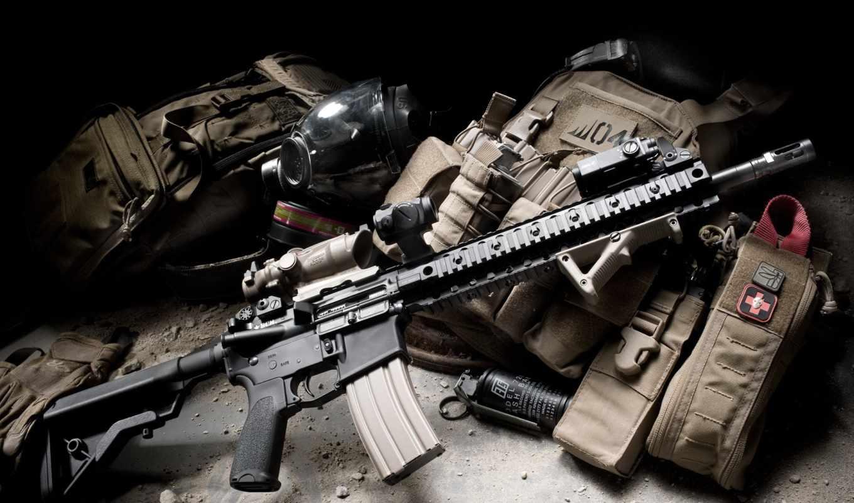 винтовка, рюкзак