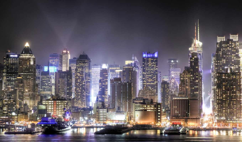 urban, skyline, город, красивый, jersey, landscape, manhattan, strategy
