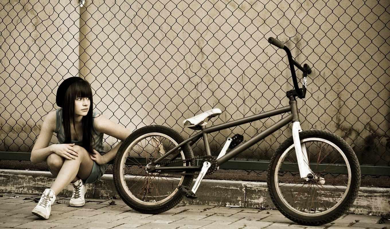 bmx, разрешений, высоком, велосипед,