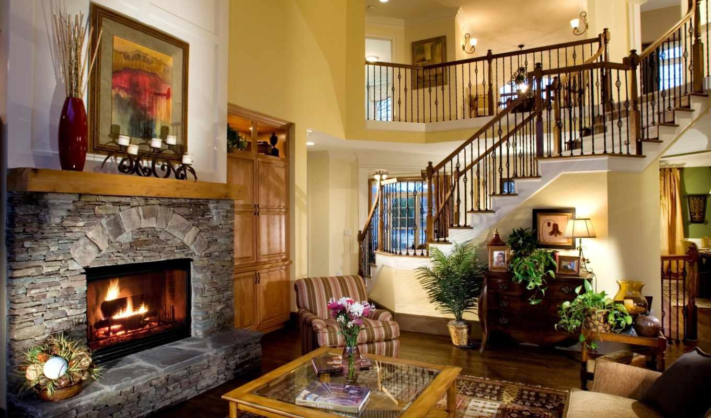 интерьер, камин, квартиры, design, камином, квартир, стиль,