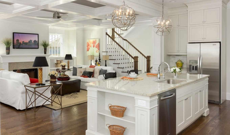 living, kitchen, design, hall, интерьер, dining, балкон, спальня, лоджия, совмещенная, гостиной, люстра, объединенная, общая, studio,