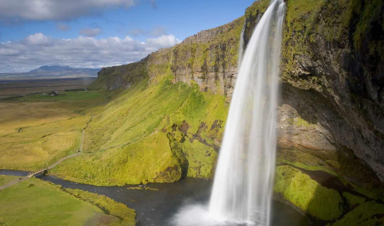 priroda, кликнуть, islande, увеличения, fonds, ecran, водопад, кто, можно,