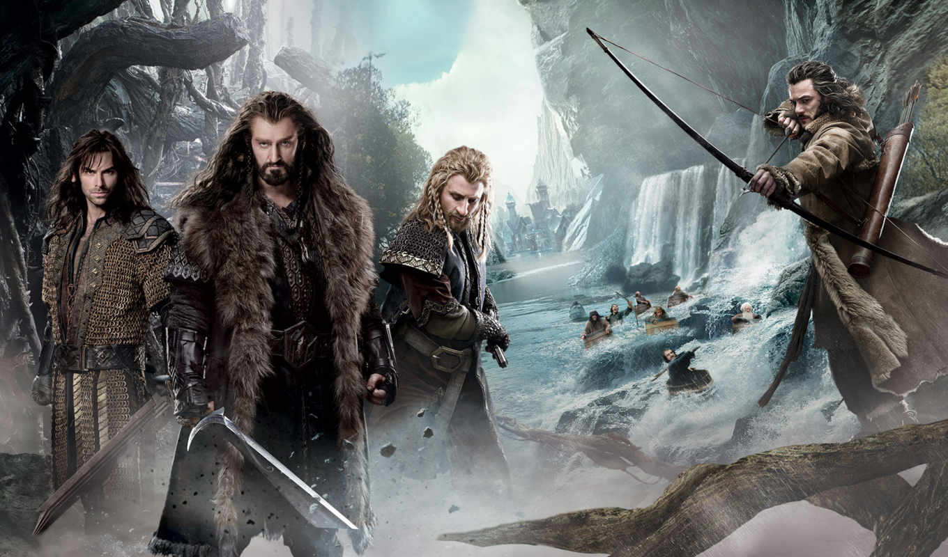 hobbit, wasteland, смауг, смауга, запустение, thorin, сниматься, again, спина,