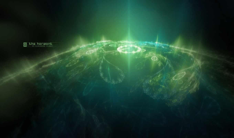 зелёный, свет, картинку, space, картинка, abstract, desktop, fantasy, home, узоры, зеленой, планете,
