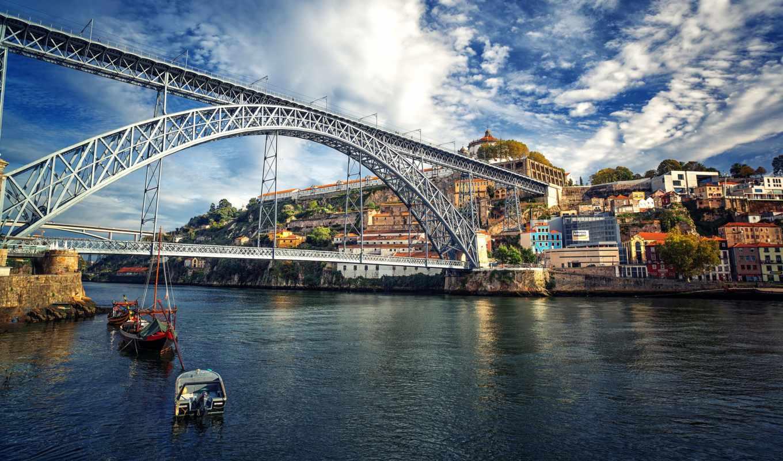 ,мост, через, пролив,море,небо