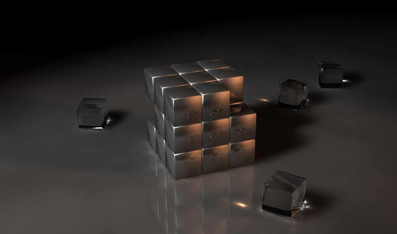 кубик, графика, качественные, белые, рубик, чёрно,