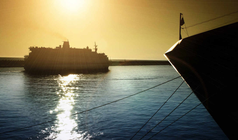 море, water, waves, корабли, небо, рисунки, фотографий, яхта, oblaka, об, world,
