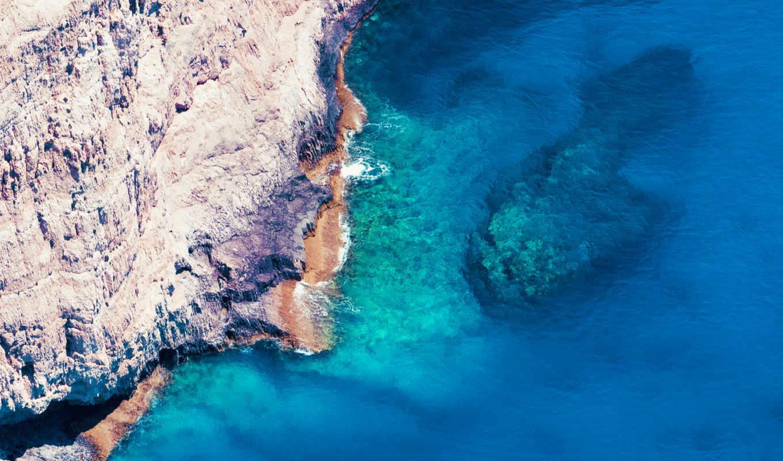 пляж, море, камень, desktop,