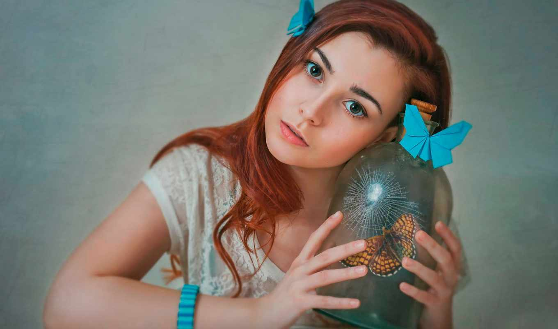 банка, tapety, девушка, бабочка, imgator, страница, redhead,