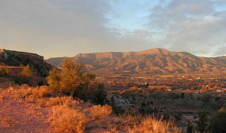 пустыня, горы, дек,