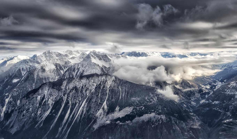 priroda, снег, горы, панорама,