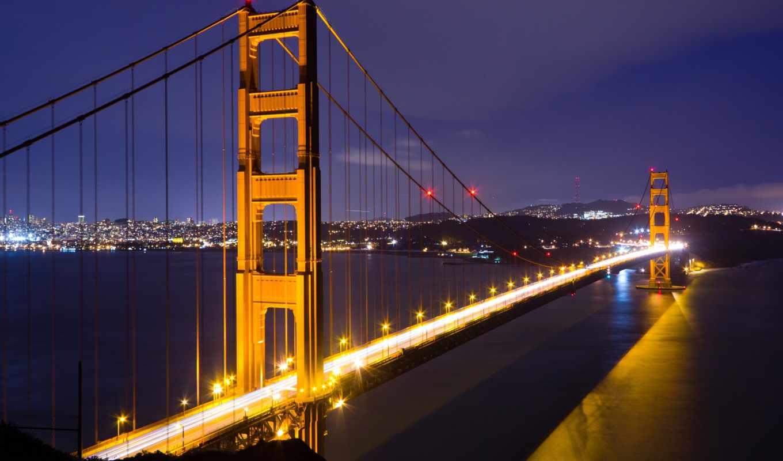 gate, golden, bridge, lapse, time, san, francisco, stock,
