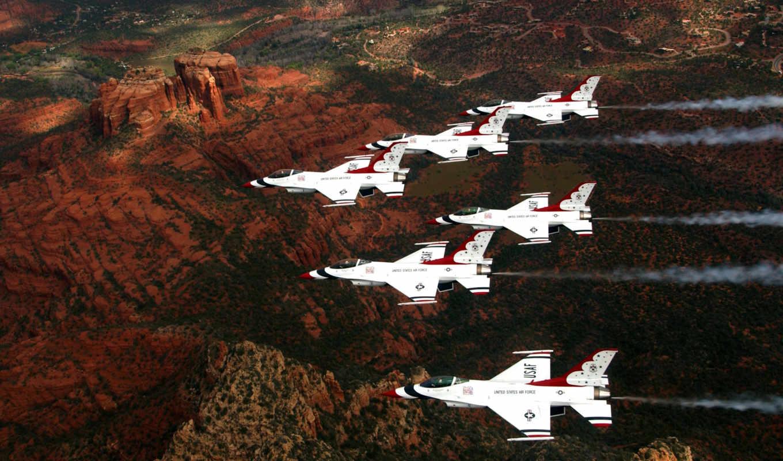 thunderbirds, ввс, истребитель, falcon, fighting, usa, dynamics, general, usaf, буревестники,