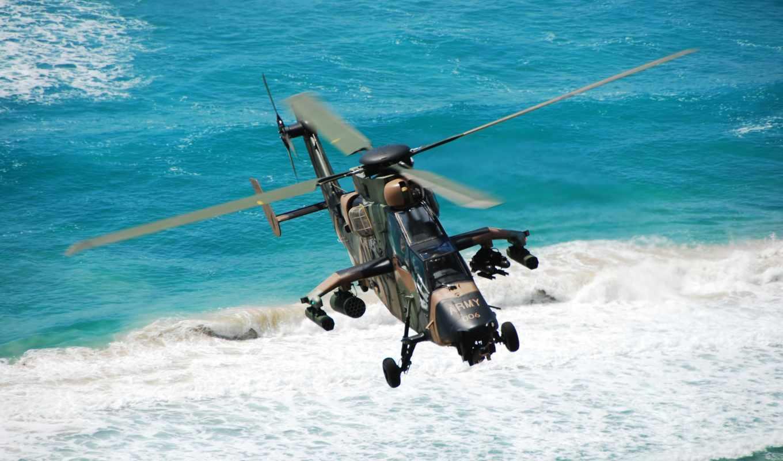 тигр, eurocopter, air, attack, вертолет, сила,