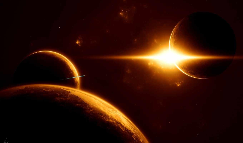 обои, планеты, космос, без, бесконечность, hd, фот