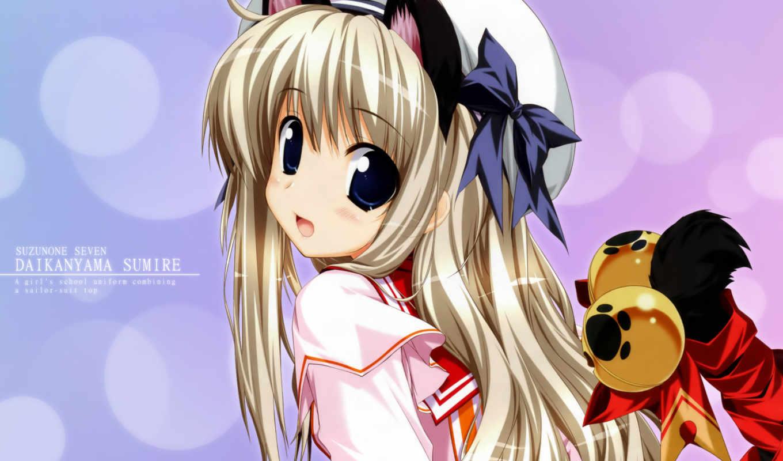 suzunone, seven, sumire, daikanyama, oshiki, favorites, nekomimi, thighhighs, duplicate, moe, tail, seifuku, hitoshi,
